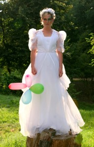 Brautkleid wird Rokokokleid